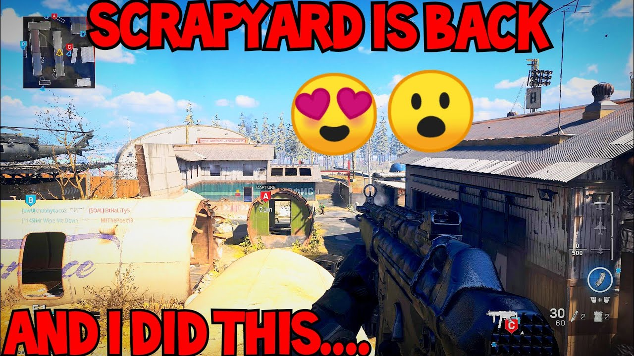 "SCRAPYARD is back & I did this.. (MODERN WARFARE) ""CALL OF DUTY MODERN WARFARE"" COD MW SEASON 4"