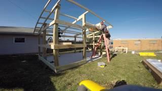 11x17 garden shedtornado shelter