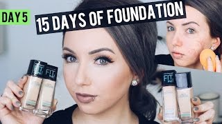 MAYBELLINE FIT ME MATTE + PORELESS Foundation {Review & Demo} 15 DAYS OF FOUNDATION