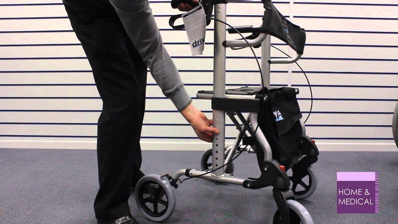 Walker Transport Chair In One Hugo Navigator Nailhead Trim Dining Chairs Diamond Rollator Youtube