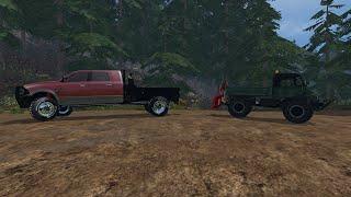 Farming Simulator 2015 Mods- AutoLoad Log Trailer, Tree Winches