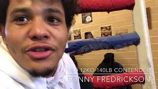 Sonny Fredrickson 18-0 12KO talks about up coming fight on Shobox