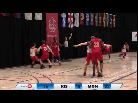 Jeux du Québec 2016 BasketBall Masculin MON VS RIS