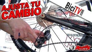 Cómo ajustar un cambio trasero de bicicleta