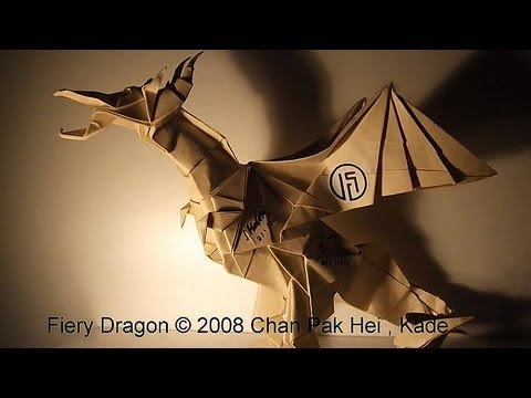 origami fiery dragon �������� kade chan youtube