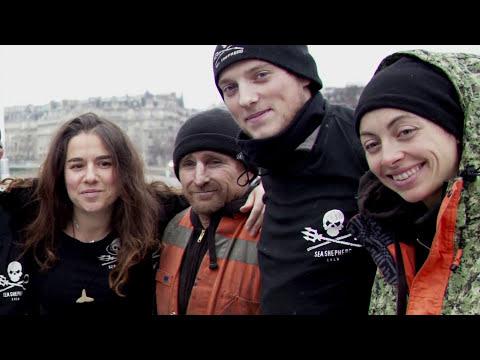 Sea Shepherd débarque à Paris...par la Seine