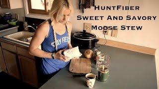 Sweet and Savory Moose Stew
