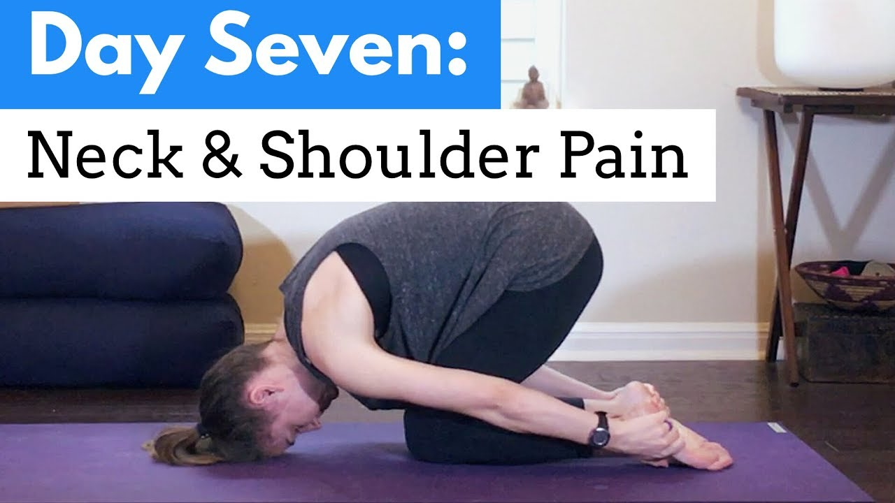 Yoga for Neck & Shoulder Pain - 5 Min Routine for ...