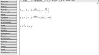 Maple Training: Solving Equations