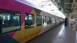 5月30日(木)朝の長野駅に現れた、E257系回送列車。