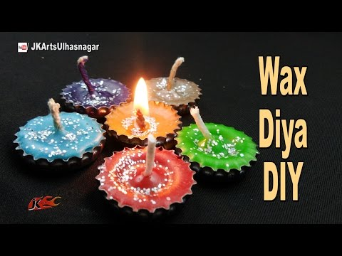 DIY Wax Candle from Bottle Cap | Best Out of Waste | How to
