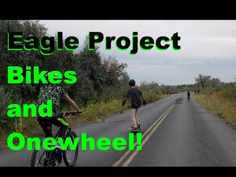 Onewheel and Bicycles at a BSA Eagle Scout Project!