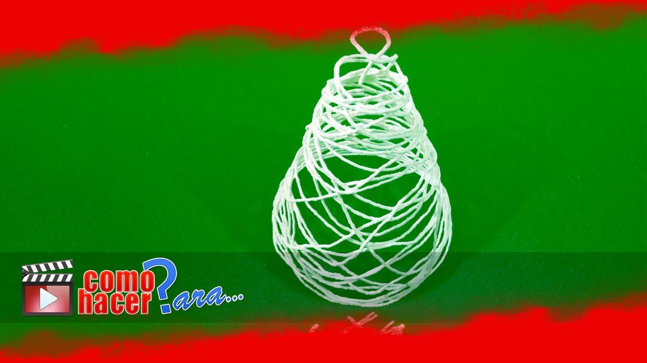 hacer adornos de navidad