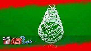 Cómo hacer un Pinito de Hilo - Adornos de Navidad