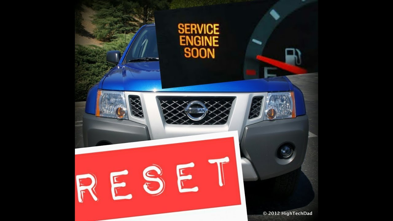 2005 Nissan Xterra Service Engine Soon Light Reset