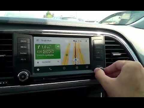 seat leon fr android auto navigation youtube