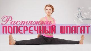 Растяжка на ПОПЕРЕЧНЫЙ ШПАГАТ / Middle splits stretches