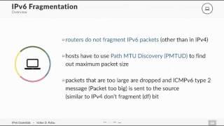 IPV6 Lecture 9 IPv6 Fragmentation