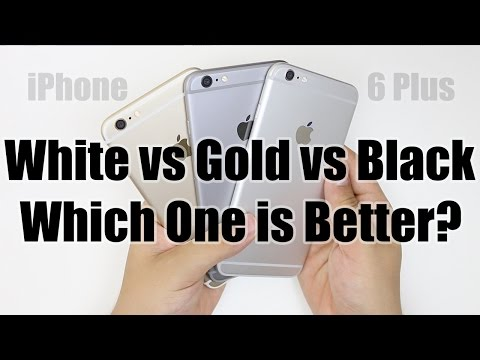 Apple iPhone 6 Plus: Gold vs White (Silver) vs Black (Space Gray)