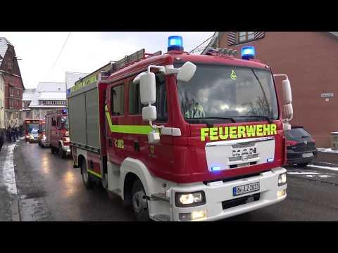 Freiwillige Feuerwehr Rottweil - Umzug am 09 12 2017