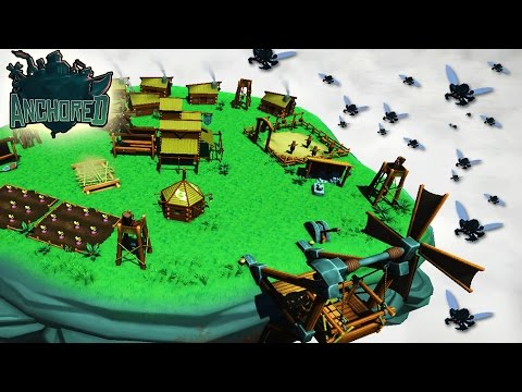 RELENTLESS Enemy Attacks vs Floating Island Fortress - Anchored Gameplay