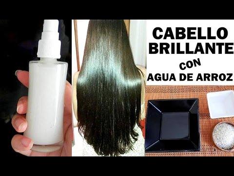 tratamiento de cabello con agua de arroz