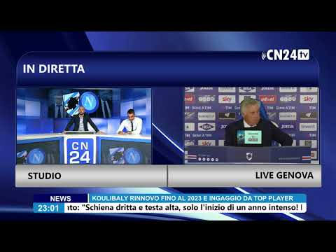 SAMPDORIA-NAPOLI 3-0 - Conferenza stampa post-partita Ancelotti
