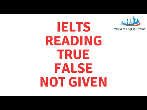 IELTS READING | True False Not Given | Question Type Tips and Strategies