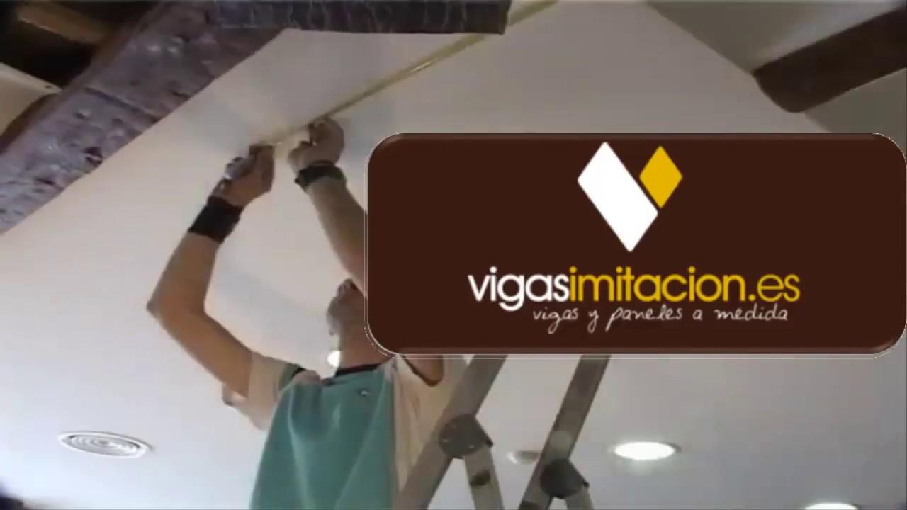 Instalacion Vigas Huecas Imitacion Madera De Poliuretano Vigasimitacion Es