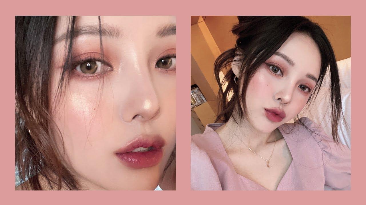Pink Brown Makeup GRWM💕 (with sub) 분위기 있는 핑크 브라운 메이크업, 오랜만에 호텔 겟레디윗미!