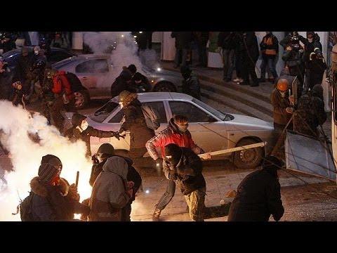 Háborús állapotok Kijev belvárosában