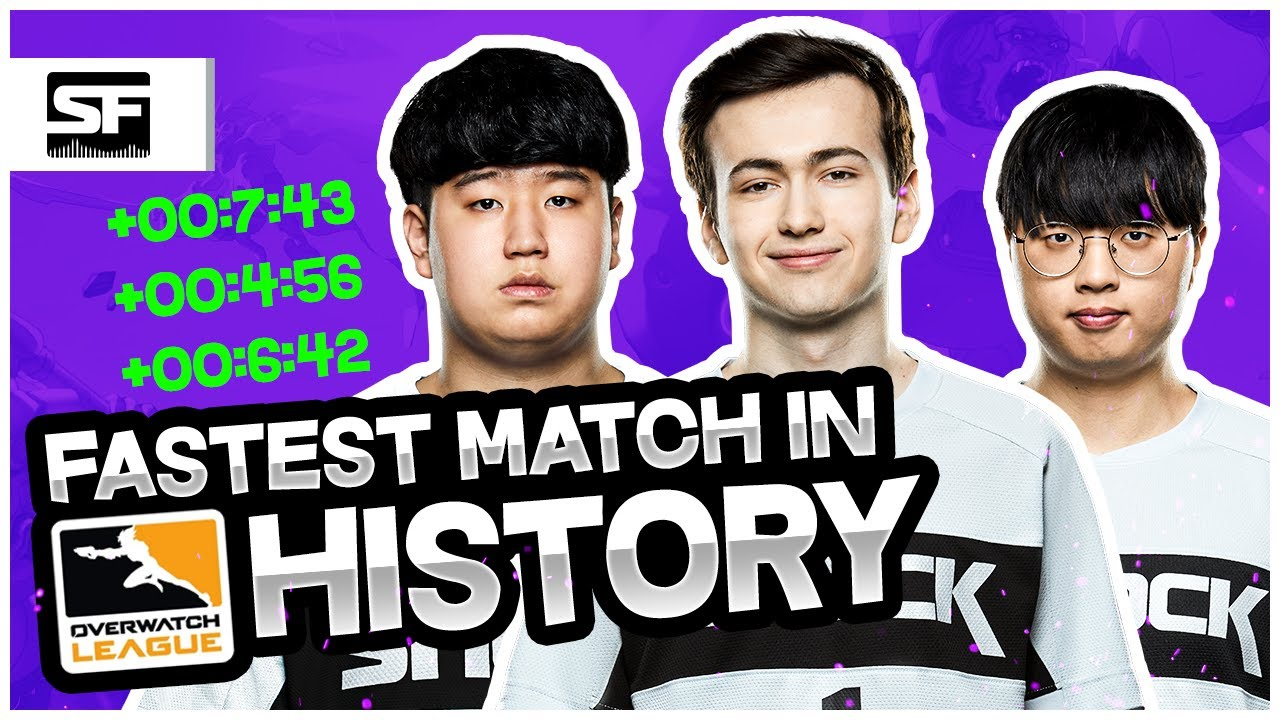 The Fastest Match In Overwatch League History (SF Shock World Record Run)