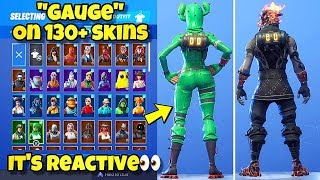 "NEW ""GAUGE"" BACK BLING Showcased With 130+ SKINS! Fortnite Battle Royale (BEST GAUGE COMBINATIONS)"