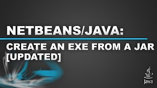 Create an Exe from a Jar File [UPDATED]