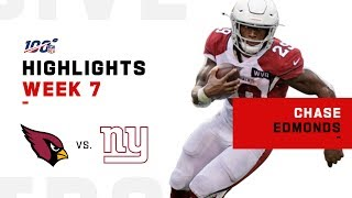 Chase Edmonds Propels Cardinals Forward w/ 150 Total Yards & 3 TDs | NFL 2019 Highlights