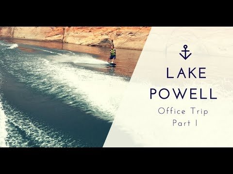 Office Party at Lake Powell Wow we have a great boss!!!
