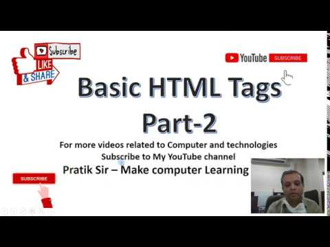 Class X L-1 Introduction To HTML , Part-2