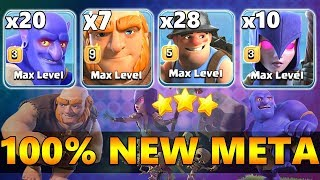 7 Max Giant 10 Max Witch 20 Max Bowler | New Meta Ground Army 3 Star Th12 Max | New Th12 War Style