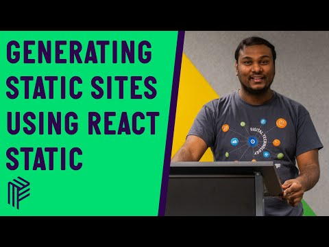 Generating Static Websites using React Static - Time to React - April 2020
