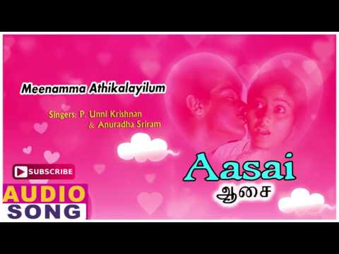 Meenamma Song  Aasai Tamil Movie Songs  Ajith Kumar  Suvalakshmi  Deva  Music Master