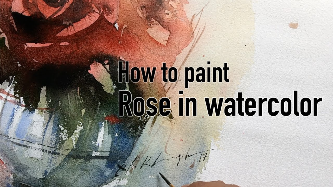 How to paint rose in watercolor step by step painting for How to paint a rose step by step