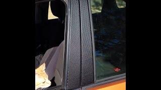 4D Carbon Fiber Vinyl Install on Pillars
