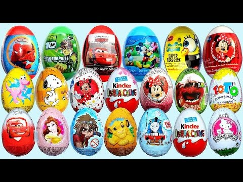 Kinder Joy Surprise Eggs Star Wars, Minions & More Kids Toys Collection | CDS Kids Tv