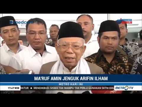 Ma'ruf Amin Jenguk Arifin Ilham Mp3