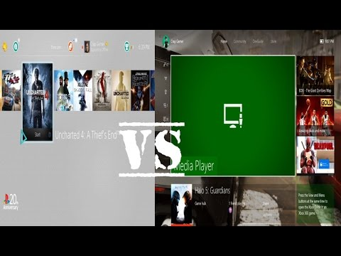Xbox One User Interface Vs PS4 User Interface