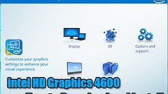 intel HD Graphics 4600 Driver How to Download and install