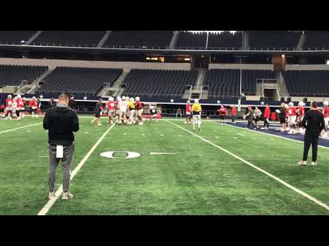 Ohio State QB Tate Martell at Cotton Bowl practice