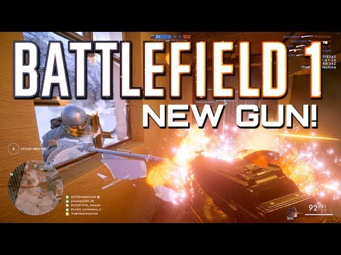 Battlefield 1: New Gun! Parabellum MG14/17 Gameplay -  In The Name of the Tsar DLC