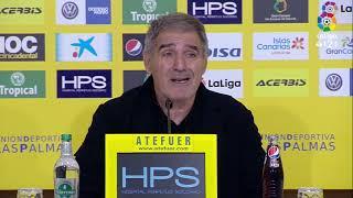 Rueda de prensa de Paco Herrera tras el UD Las Palmas vs Real Sporting (1-0)