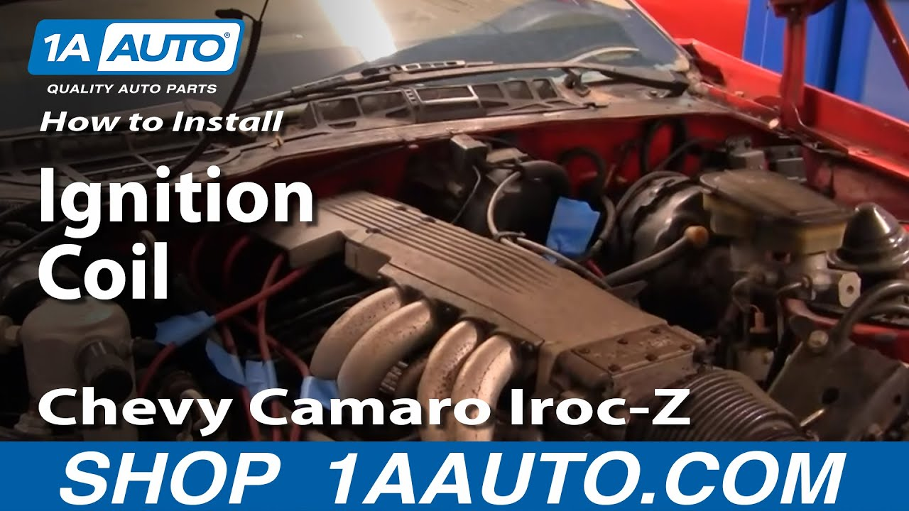 how to install replace ignition coil 82 92 chevy camaro iroc z rh youtube com